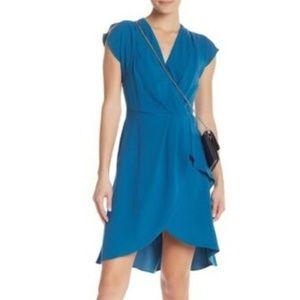 nwt | Rachel Roy Blue Tulip Hem Dress